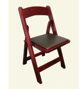 mahogany rustic wood garden chair rental for chicago area